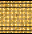 seamless mosaic pattern with golden squares vector image vector image
