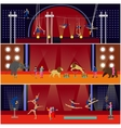 set of circus interior concept banners vector image vector image