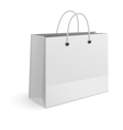 Shopping paper bag isolated on white background vector image vector image