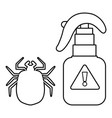 spray icon outline line style vector image vector image