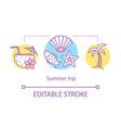 summer trip concept icon vector image