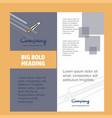 sword company brochure title page design company vector image