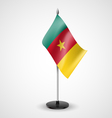 Table flag of Cameroon vector image vector image