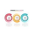 three steps infographic process chart vector image