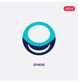 two color sphere icon from geometry concept vector image