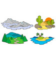 various landscapes collection vector image