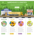 Warehouse and logistics infographics vector image vector image