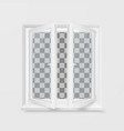 white office plastic window window front view vector image vector image