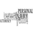 why hire a personal injury attorney text word vector image vector image