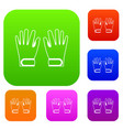 winter gloves set collection vector image vector image