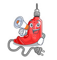 with megaphone electric drill in the cartoon shape vector image vector image