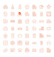 49 estate icons vector image vector image