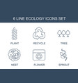 6 ecology icons vector image vector image