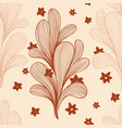 abstract botanical blossoming cactus seamless vector image vector image