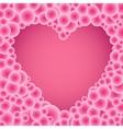 buble pink circles heart vector image vector image