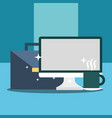 business office equipment vector image vector image
