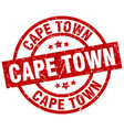 cape town red round grunge stamp vector image