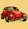 cartoon broken old retro car requiring repair vector image vector image