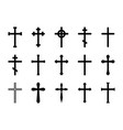 christian crosses catholic orthodox and celtic vector image