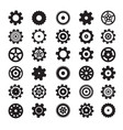 Cogs symbols flat design gears set isolated on vector image