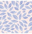 Colored seamless pattern with leaf in blue vector image vector image