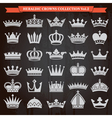 Crowns icons set vector image vector image