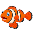 Cute clown fish cartoon vector image