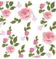 cute exotic roses with branches leaves vector image vector image
