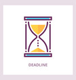 deadline icon time management concept vector image vector image