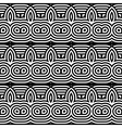 Design seamless monochrome waving pattern vector image