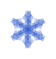 distress isolated snowflake vector image vector image