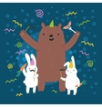 Easter funny Bunny vector image vector image