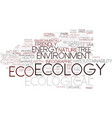 ecological word cloud concept vector image vector image