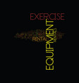 exercise equipment rental text background word vector image vector image