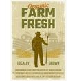 farm retro style poster vector image vector image