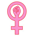 female sign with hand vector image vector image