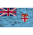 Flag of Fiji with old texture vector image