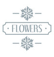 flower logo simple gray style vector image vector image