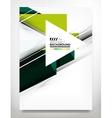 Flyer Brochure Design Template vector image vector image