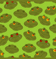 Frog seamless pattern amphibian ornament toad