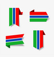 gambian flag stickers and labels vector image vector image