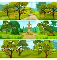 Garden Landscape Banners vector image vector image