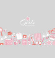 girls accessories and cloths background vector image vector image