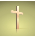 Golden cross symbol of the Christian vector image
