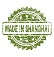 grunge textured made in shanghai stamp seal vector image vector image