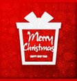 happy new year and merry christmas gift vector image vector image