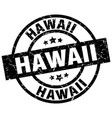 hawaii black round grunge stamp vector image vector image