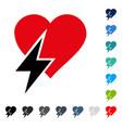 heart shock icon vector image