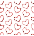 Hearts contours made up of little pink hearts on vector image vector image