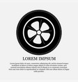 icon wheel tire repair vector image vector image